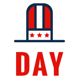 Independence day top hat icon