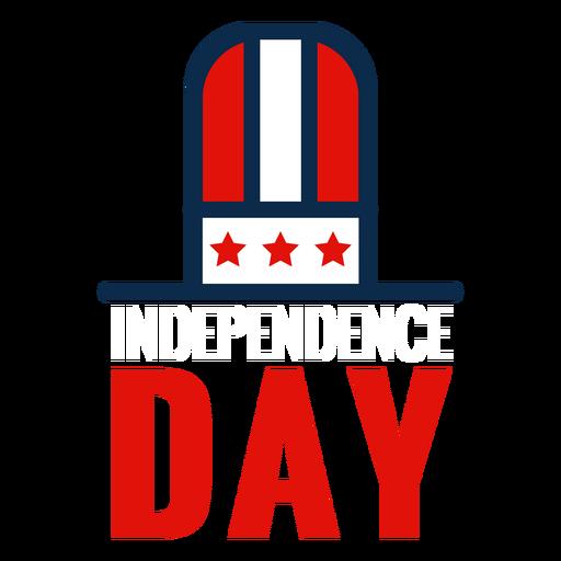 Icono de sombrero de copa del día de la independencia