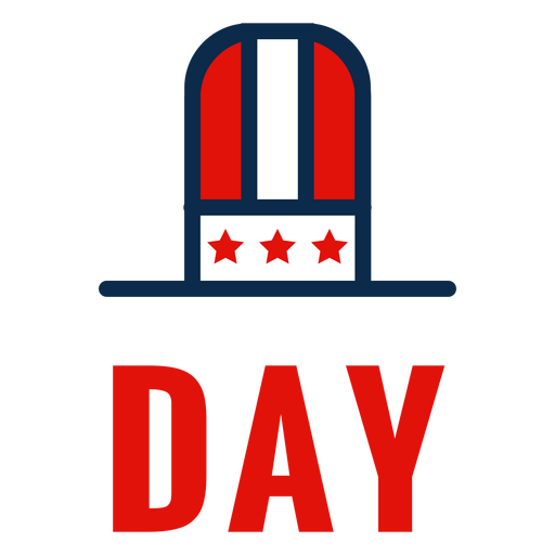 Independence day top hat icon Transparent PNG