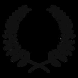 Corona de laurel plana