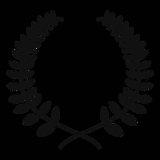 Laurel wreath flat