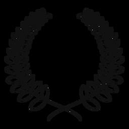 Línea de corona de laurel