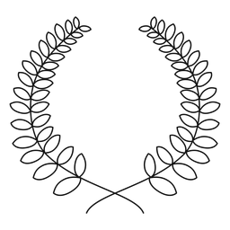 Linha de coroa de louros