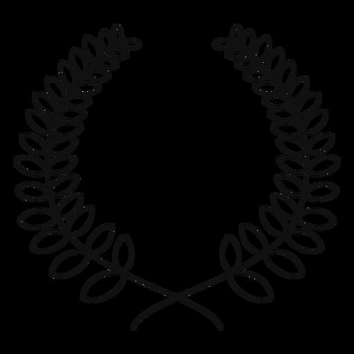 Linha de coroa de louros Transparent PNG