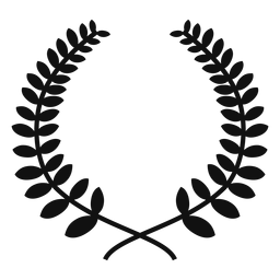 Laurel wreath silhouette