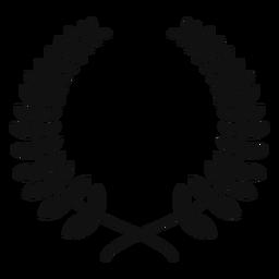 Silueta de corona de laurel
