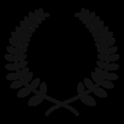 Laurel wreath silhouette