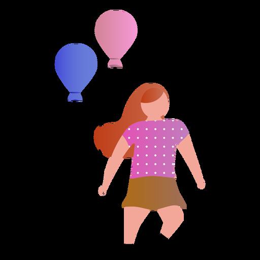 Niña con globos Transparent PNG