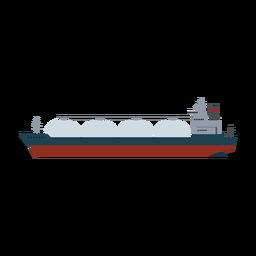 Icono de barco de transporte de GNL