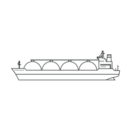 Linha de navio transportadora Lng
