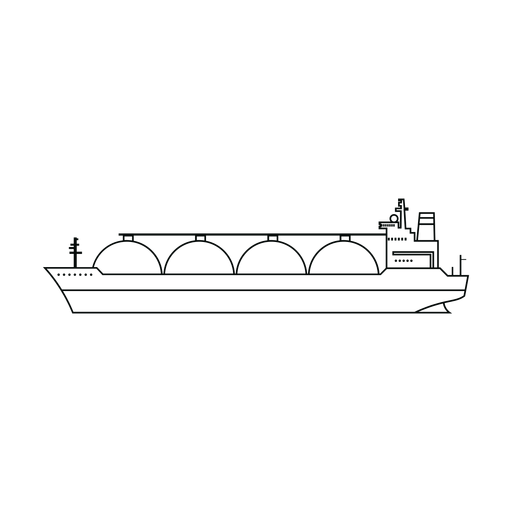 Lng carrier ship line Transparent PNG