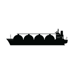 Silhueta de navio transportadora Lng