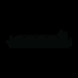 Silueta de barco de transporte de GNL