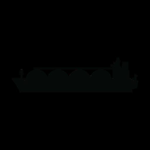 Lng carrier ship silhouette Transparent PNG