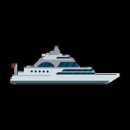 Icono de barco de yate de vela de lujo
