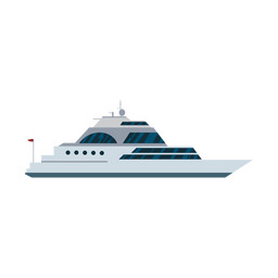 Luxury sailing yacht ship icon