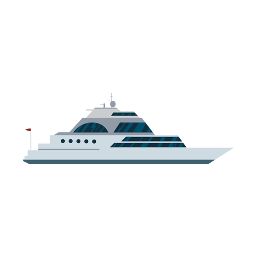 Luxury sailing yacht ship icon Transparent PNG