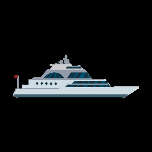 Luxury sailing yacht ship icon