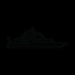 Linha de navio iate de luxo