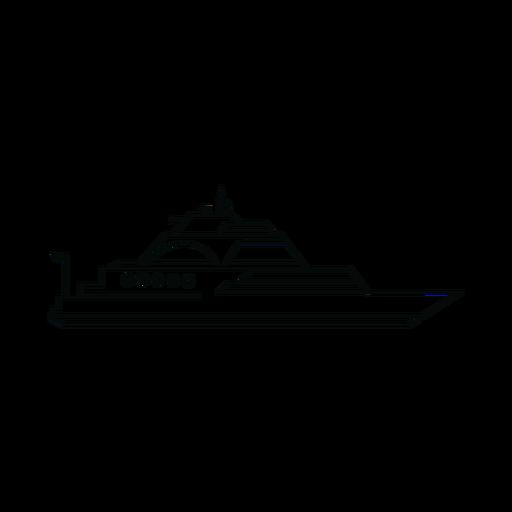 Linha de navio iate de luxo Transparent PNG