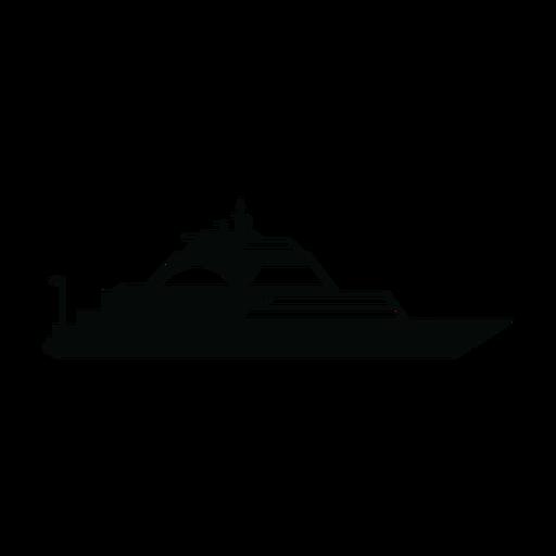 Yate de lujo navegando silueta Transparent PNG