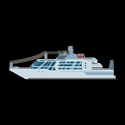 Icono de nave de yate de lujo