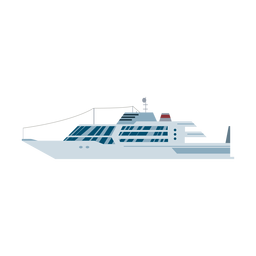 Luxury yacht ship icon