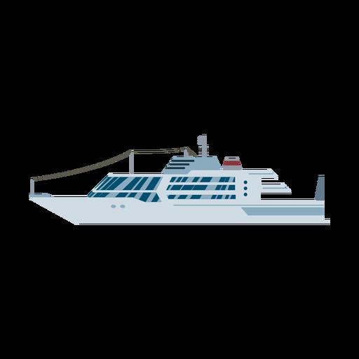 Ícone de navio de iate de luxo Transparent PNG