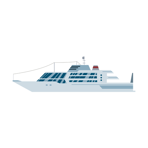 Luxury yacht ship icon Transparent PNG