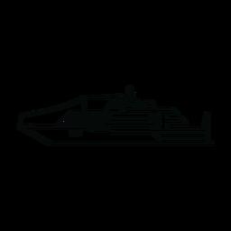 Linha de navio de iate de luxo