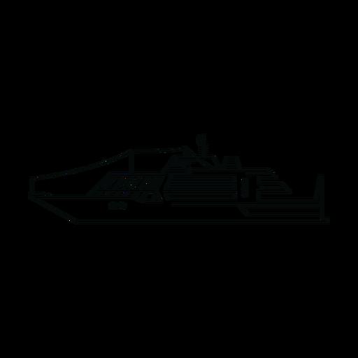 Linha de navio de iate de luxo Transparent PNG