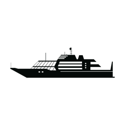 Luxury yacht ship silhouette