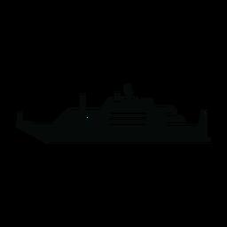 Silhueta de navio de iate de luxo