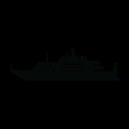 Silhueta de navio de iate de luxo Transparent PNG