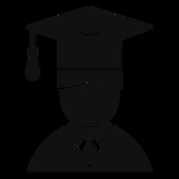 Hombre graduado avatar plana