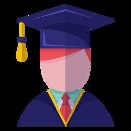 Icono de avatar graduado masculino