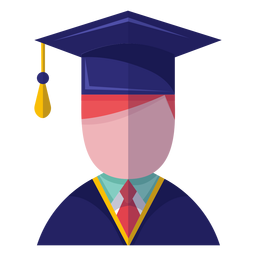 Male graduate avatar icon