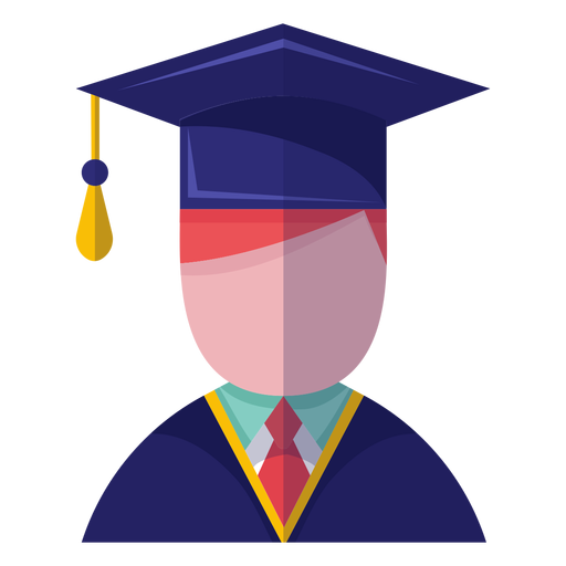 Male graduate avatar icon Transparent PNG