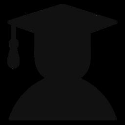 Avatar masculino graduado silueta