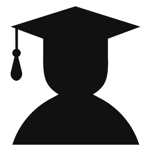 Male graduate avatar silhouette Transparent PNG