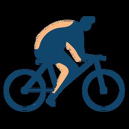 Homem, montando, bicicleta, silueta