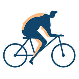 Man riding bike silhouette