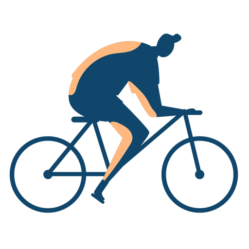 Man riding bike silhouette Transparent PNG