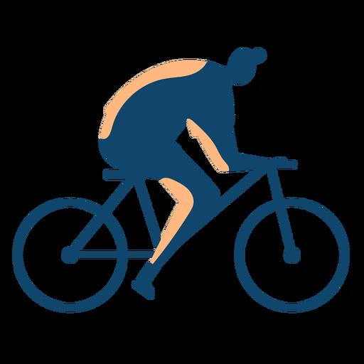 Silueta de hombre montando bicicleta