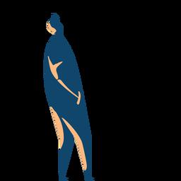 Hombre caminando silueta