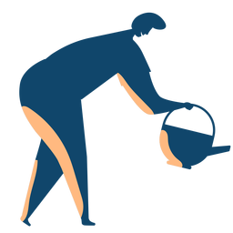 Man watering silhouette