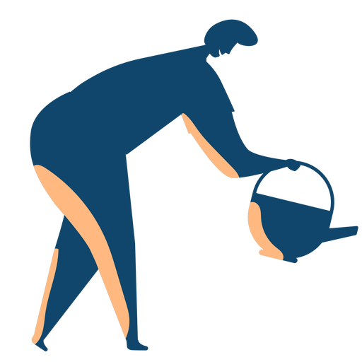 Man watering silhouette Transparent PNG