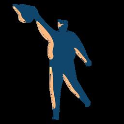 Mann mit Wasser kann Silhouette