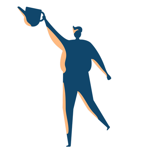 Man with water can silhouette Transparent PNG