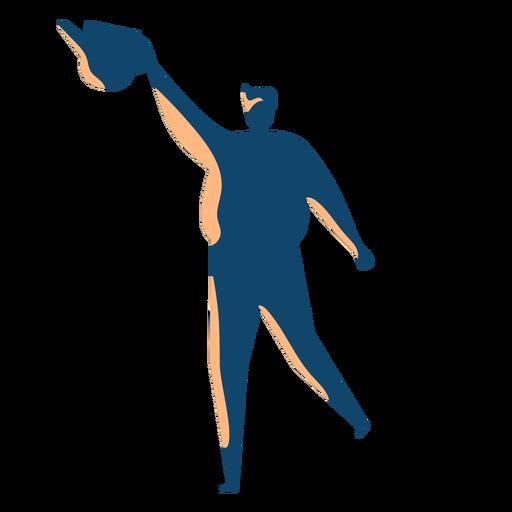 Mann mit Wasser kann Silhouette Transparent PNG